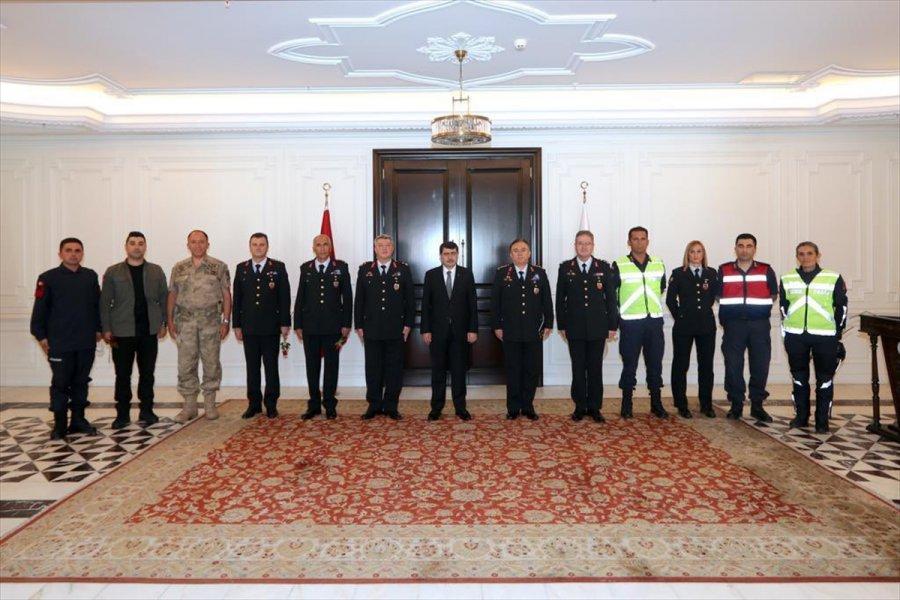 Jandarma Teşkilatının 182. Kuruluş Yıl Dönümü Dolayısıyla Ankara Valisi Vasip Şahin'e Ziyaret