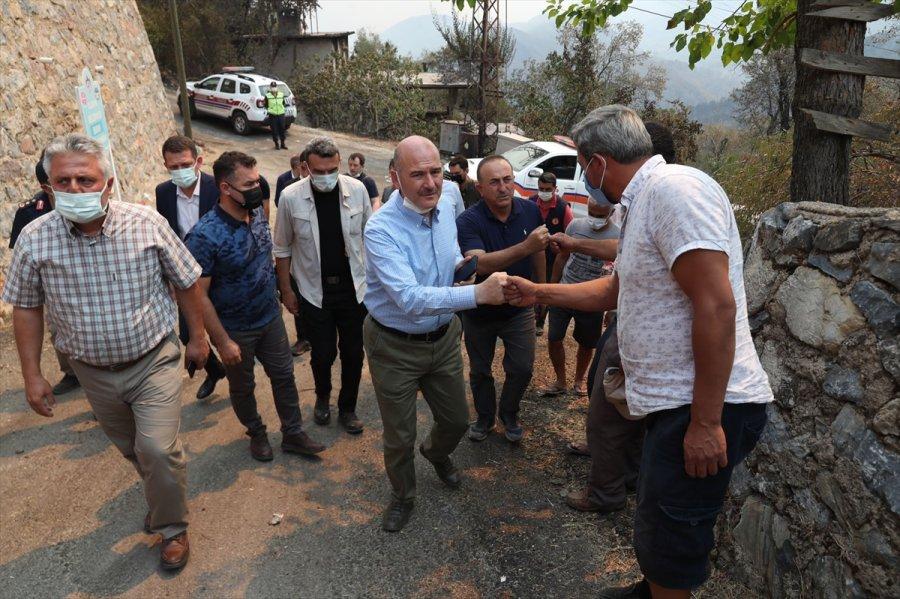 Bakanlar Soylu Ve Çavuşoğlu, Alanya İle Gündoğmuş'taki Yangın Bölgesinde İncelemelerde Bulundu
