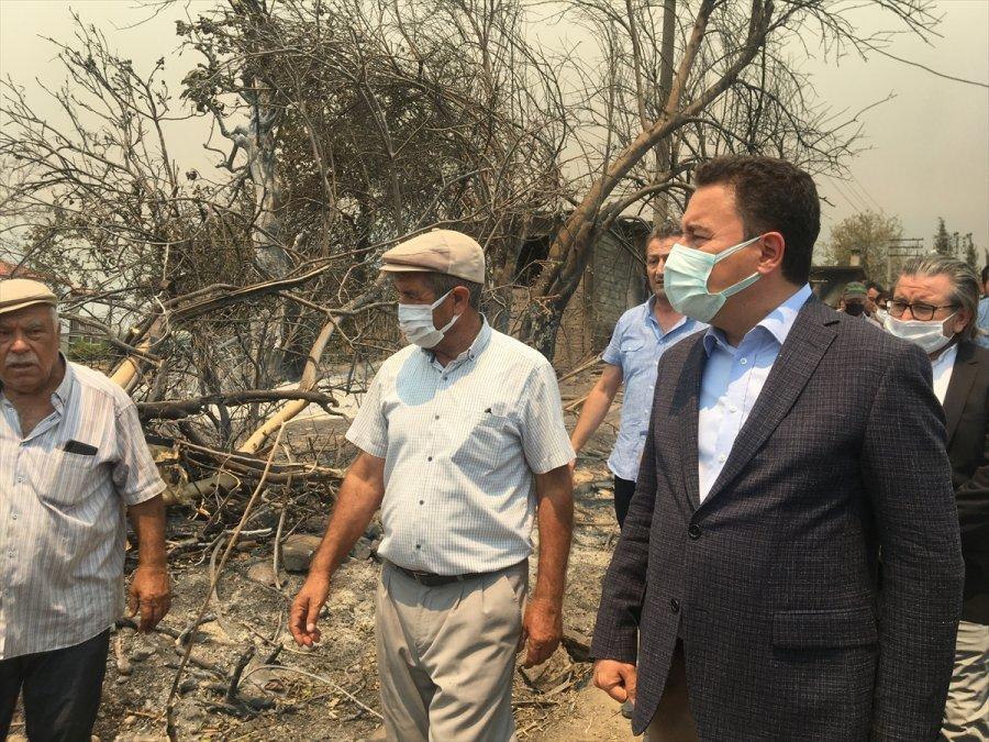 Deva Partisi Genel Başkanı Ali Babacan, Manavgat'ta Yangın Bölgesinde İncelemede Bulundu