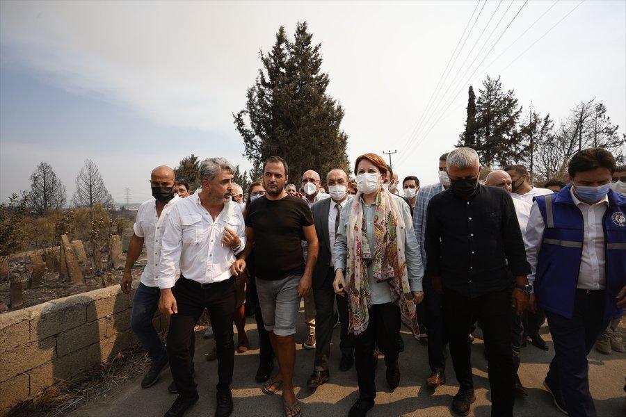 İyi Parti Genel Başkanı Akşener, Manavgat'ta Yanan Alanda İnceleme Yaptı: