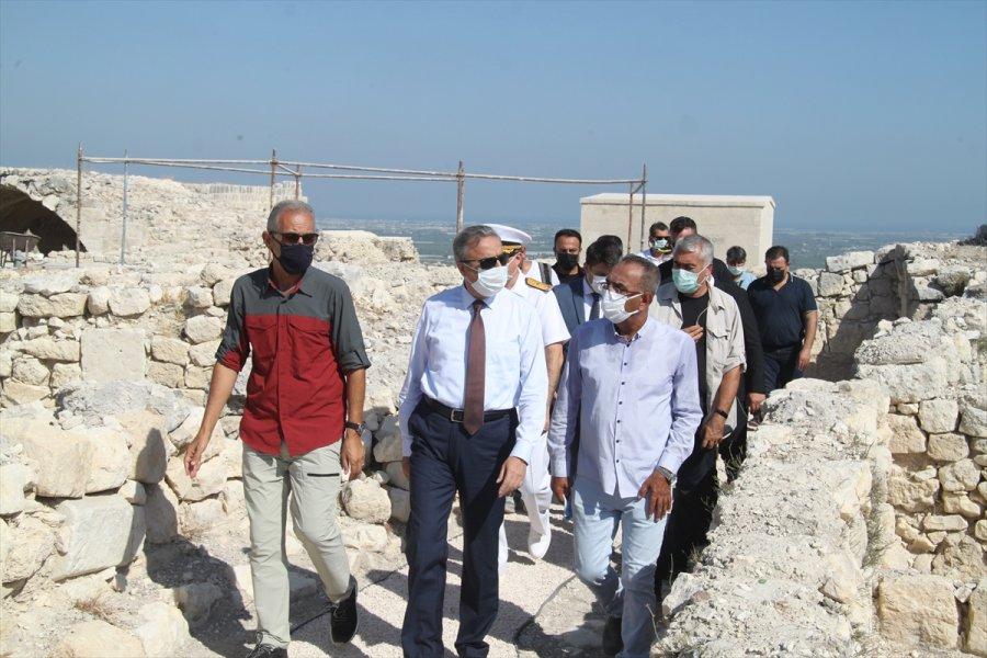 Mersin Valisi Ali İhsan Su, Silifke Kalesi'nde İncelemede Bulundu