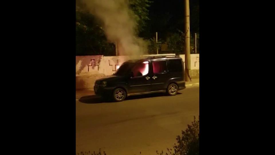 karaman araç yangını