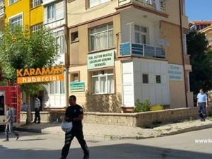 Karaman'da Bir Apartmanda Yangın Paniği