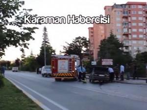 100.yıl bulvarı üzeri trafik kazası