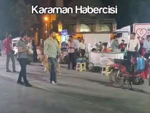 Karaman Haber : Aktekke Meydanı Seyyar Esnafa Asayiş Uygulaması