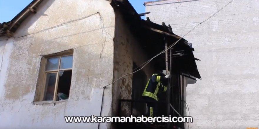Karaman Abbas Mahallesi Ev Yangını