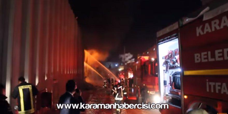 Karaman Organize Sanayi Bölgesinde Dev Alevler