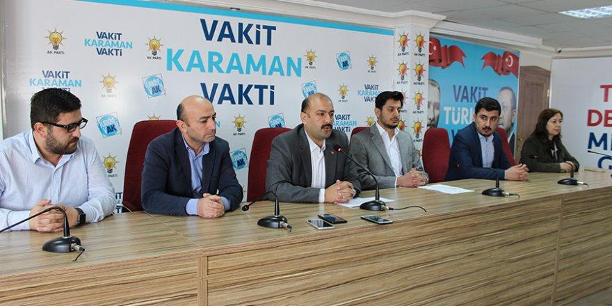 AK Parti Karaman İl Teşkilatında Yerel Seçim Toplantısı