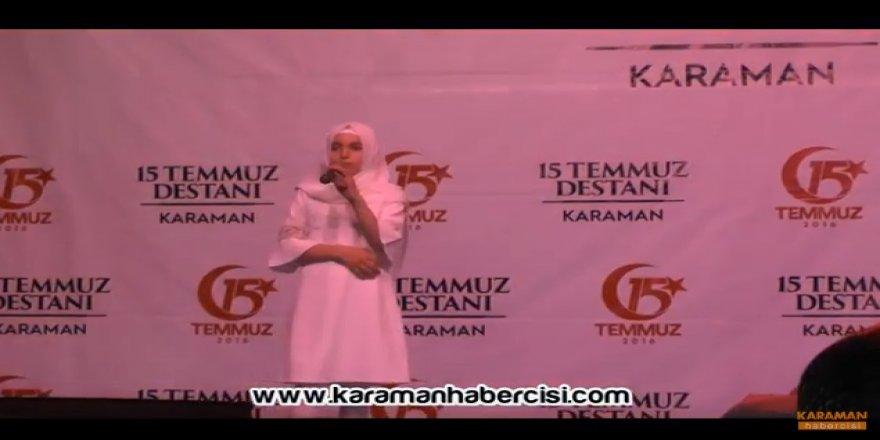 Karaman Şehit Muhammet Yalçın Kız İmam Hatip Öğrencileri - İstiklal Marşı