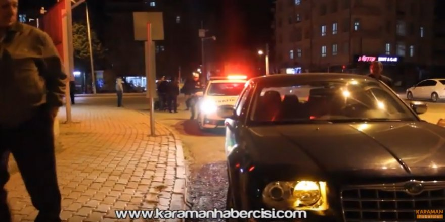Karaman Kalesi Kavşağında Trafik Kazası