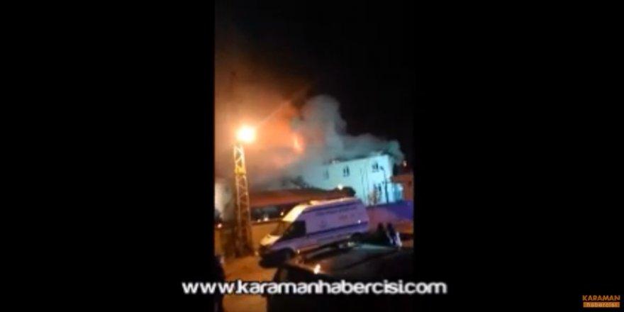 Karaman Sarıveliler İlçesi Hastane Yangını