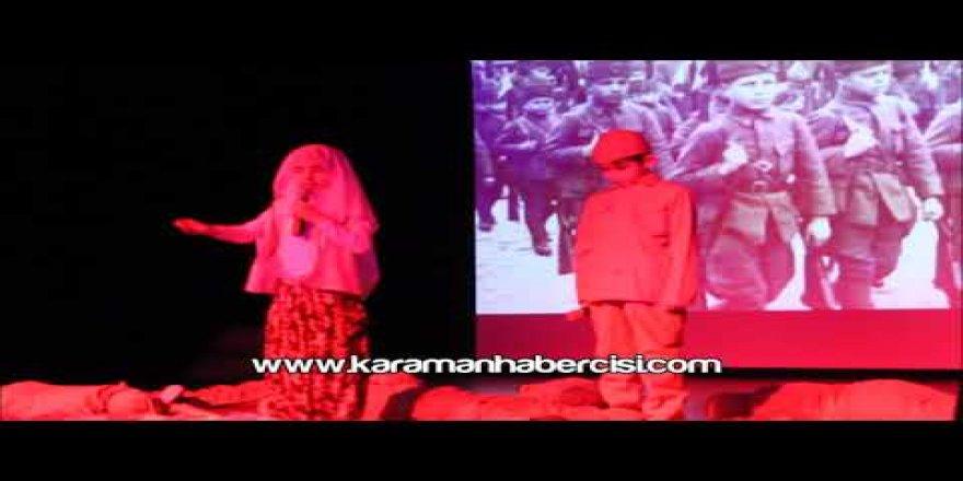18 Mart Çanakkale Programı İsabet Okulları Karaman