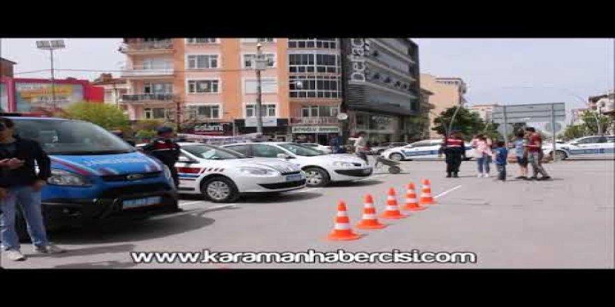 Karaman'da Trafiğin Denetleyicileri Aktekke'de Vatandaşla Buluştu